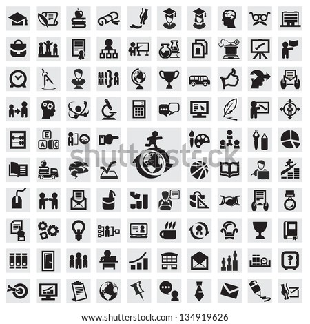 Set of icons. education - stock vector