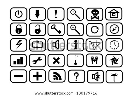 Set of icons for WEB - stock vector