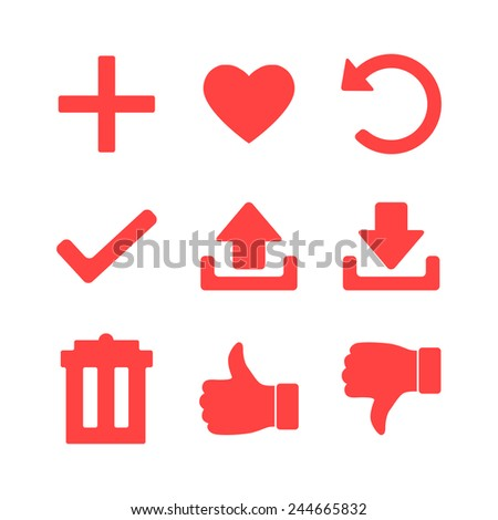 Set of Icons for Web Site, Vector Illustration - stock vector