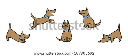 Set of images of a dog - stock vector