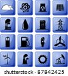 Set of industrial icons - stock vector