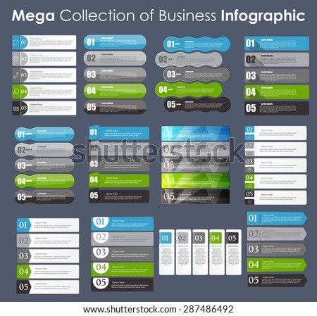 Set of Info graphic Templates for Business Vector Illustration. EPS10 - stock vector