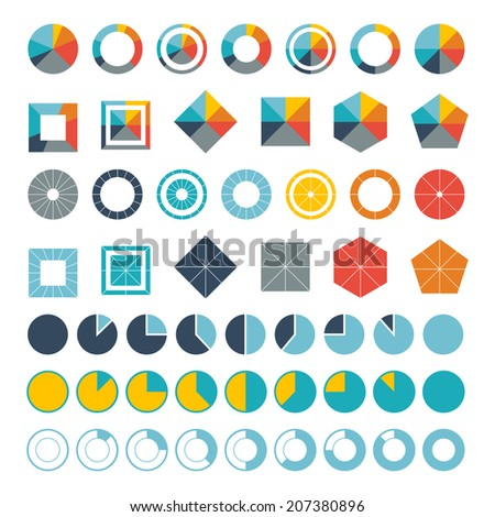 Set of infographic diagram elements for design. - stock vector