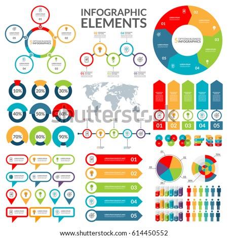 Set infographic elements circle pie chart vector de stock614450552 circle pie chart world map arrow timeline gumiabroncs Gallery