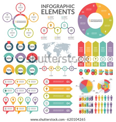 Set infographic elements circle pie chart stock vector 2018 circle pie chart world map arrow timeline ccuart Choice Image