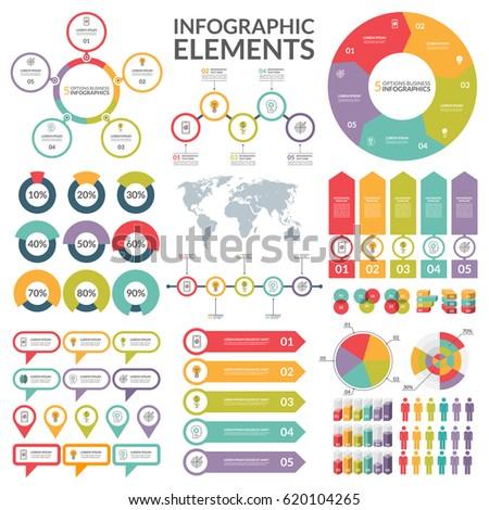 Set infographic elements circle pie chart stock vector 2018 set of infographic elements circle pie chart world map arrow timeline gumiabroncs Images