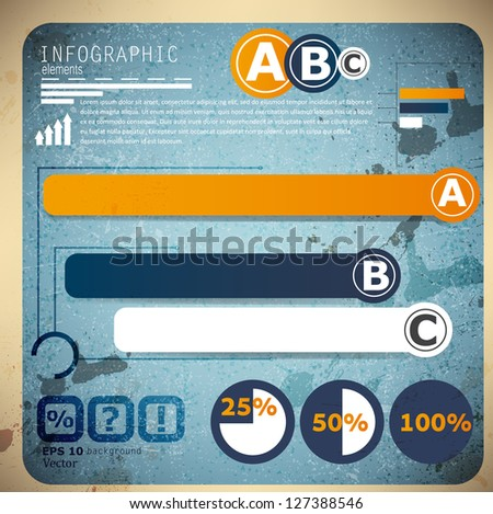 Set of Infographic elements.  Design template. Vector illustration - stock vector