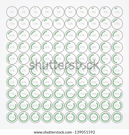 set of infographic percentage bubbles - stock vector
