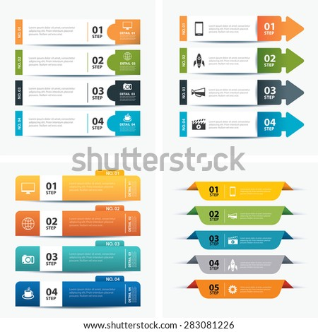 set of infographic templates - stock vector