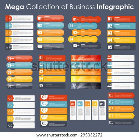 Set of Infographic Templates for Business Vector Illustration. EPS10 - stock vector