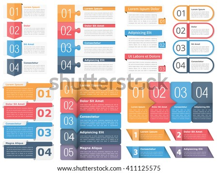 Set infographic templates numbers text business stock vector set of infographic templates with numbers and text business infographics elements set workflow cheaphphosting Choice Image