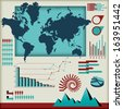 Set of infographics elements  - stock vector