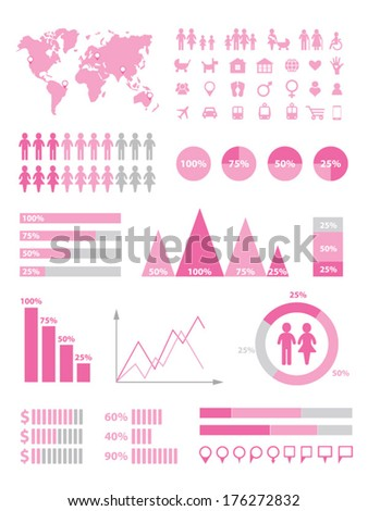 Set of infographics elements - stock vector