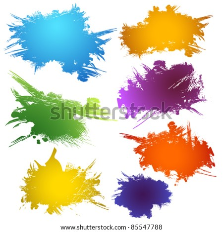 Set of ink stains - stock vector