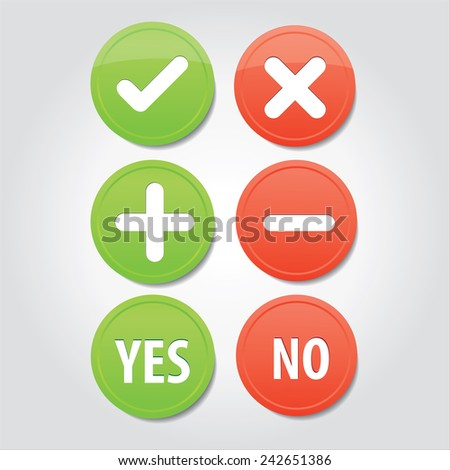 set of interface buttons ok,cancel,yes,no,web buttons - stock vector