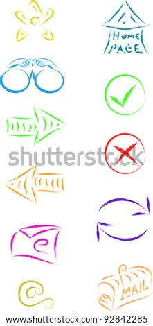 set of internet computer icons for web design - stock vector