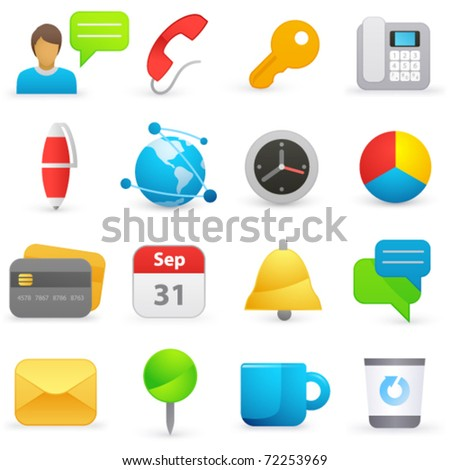 Set of internet icons on a white background - stock vector