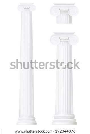 set of ionic column , vector drawing  - stock vector