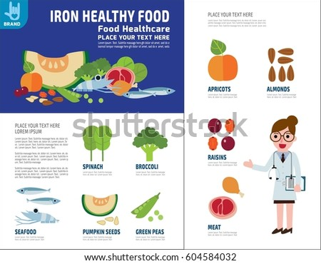 Food Sources Of Iron Stock Images Royalty Free Images Vectors Shutterstock