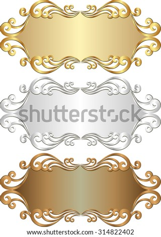 set of isolated labels - stock vector