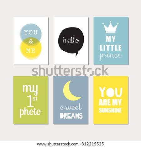 baby scrapbook templates set journaling cards newborn baby boy stock vector 312215525