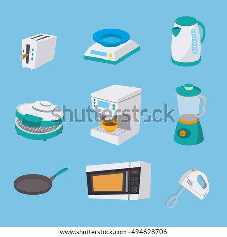 Set of kitchen appliances