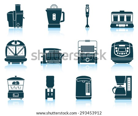 Set of kitchen equipment icons - stock vector