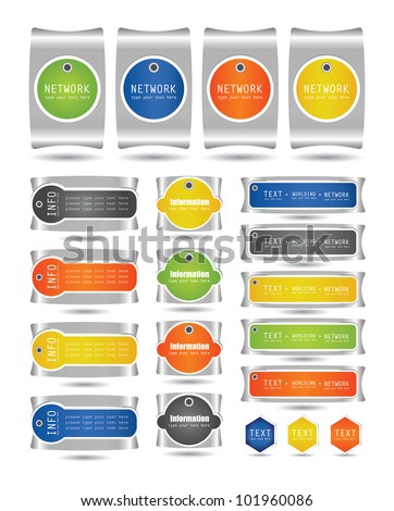 set of label collection - stock vector