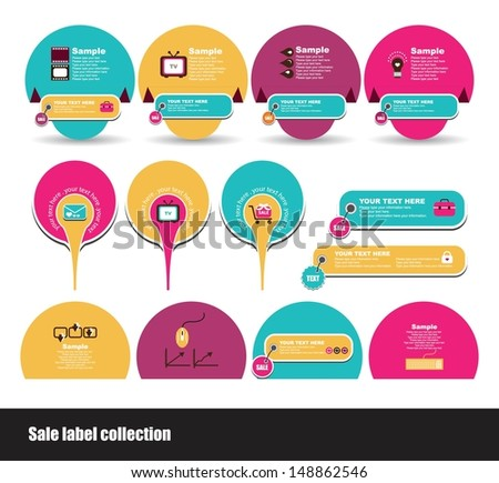 set of label design - stock vector