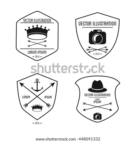 Set of label icon. Hipster style design. Vector graphic - stock vector