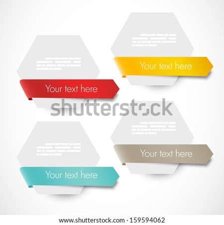 Set of labels - stock vector