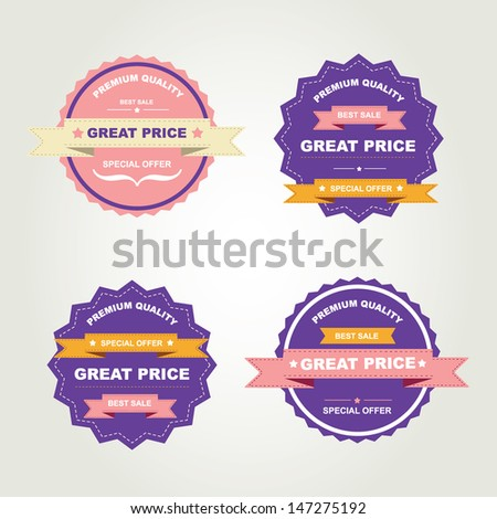 Set of labels Best sale.Vector illustration. - stock vector