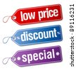 Set of  labels for discount sales. - stock photo