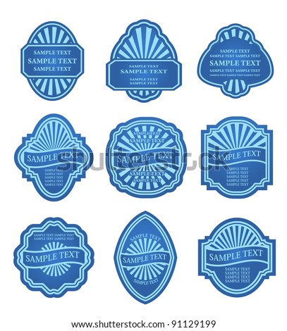Set of labels for food and beverage design. Jpeg version also available in gallery - stock vector