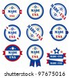 Set of labels MADE IN USA. Vector - stock vector