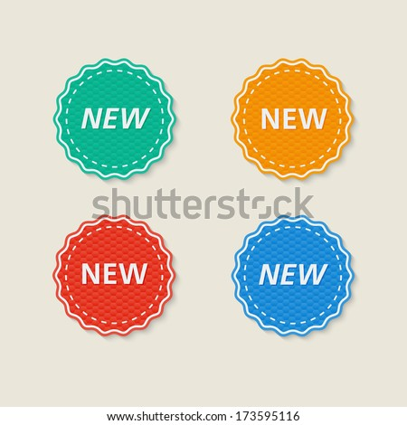 "set of labels ""new"", vector image  - stock vector"