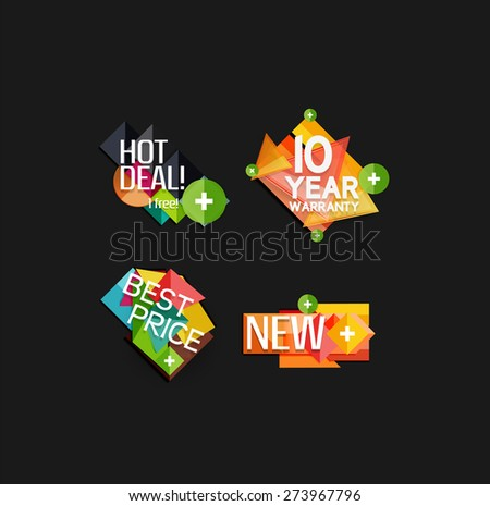 Set of labels, stickers, banners, badges and elements for sale. Vector illustration - stock vector
