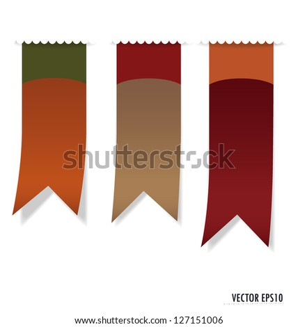 Set of labels with place for text. Vector illustration. - stock vector