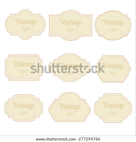 Set of Labels with retro vintage style design frame,vector illustration eps10 graphic  - stock vector