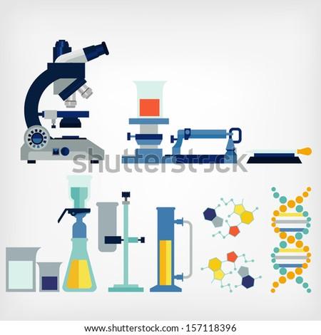 set of laboratory - stock vector