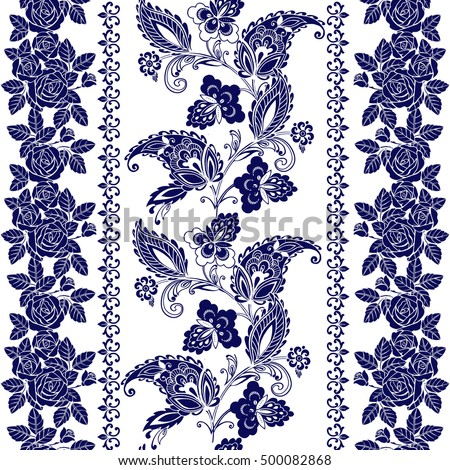 Black and white vintage wallpaper designs white and black wallpaper - Set Lace Bohemian Seamless Borders Stripes Stock Vector