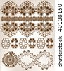 set of lace collection - stock vector