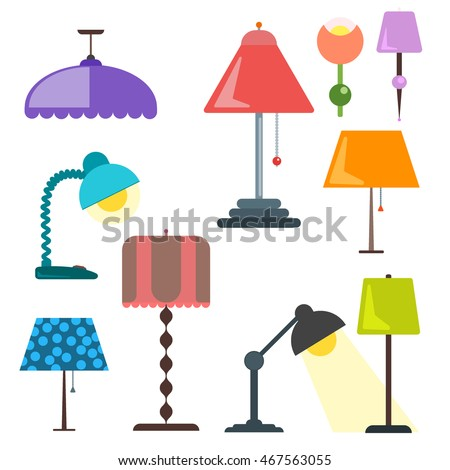 Set lamps furniture floor lamps table vector de stock467563055 set lamps furniture floor lamps table vector de stock467563055 shutterstock aloadofball Gallery