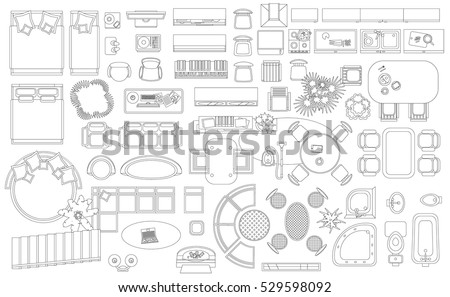 Store floor plan stock images royalty free images for Floor plan furniture store