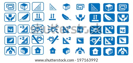 set of logistic icons - stock vector