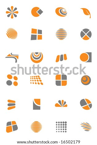 Set of Logo and Design Elements. Vector. For more illustrations VISIT MY GALLERY. - stock vector