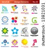 Set of 20 Logo Elements - stock vector