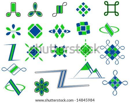 set of logos - stock vector