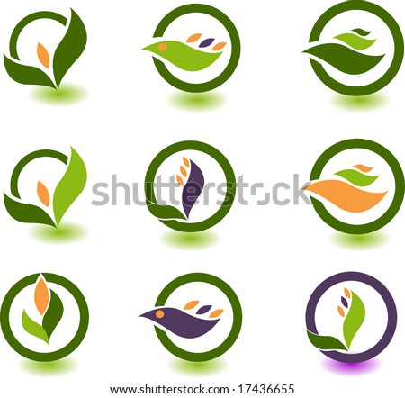 set of logos - nature - stock vector
