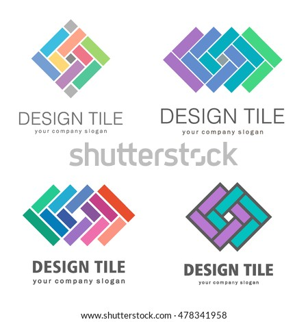set logos ceramic tiles design tile stock vector 478341958 rh shutterstock com tile log burner adhesive tile logo
